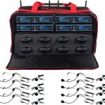VOCOPRO UDH-PLAY-8-MIB EIGHT CHANNEL WIRELESS HEADSET/LAPEL MICROPHONE SYSTEM IN A BAG