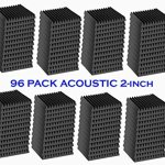 96 Pack Acoustic Panels Studio Foam Wedges 2″ X 12″ X 12″ 1