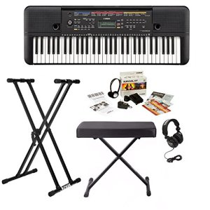 Yamaha 61 Key Keyboard with Knox Bench, Stand, Studio Headphones