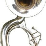 INDIAN HANDMADE BRASS FINISH SOUSAPHONE BRASS MADE TUBA MOUTH PIECE WITH CARRY BAG 25″ 3