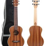 Kulana Deluxe Tenor Ukulele, Mahogany Wood with Binding and Aquila Strings + Gig Bag 1