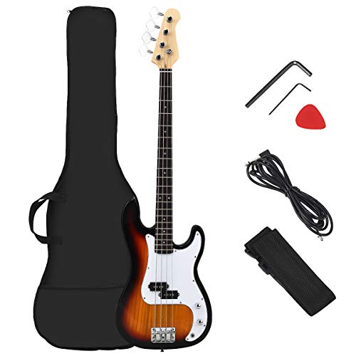 Costzon Full Size Electric 4 String Bass Guitar for Beginner Complete Kit