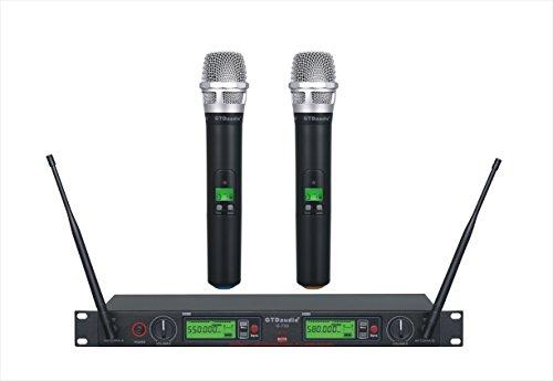 GTD Audio 2x800 Channel UHF Diversity Wireless Hand-held Microphone