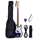 NEW Full Size 4 Strings Blue Electric Bass Guitar