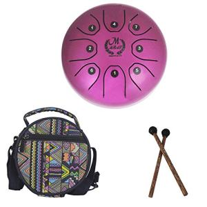 5.5 Inch Mini Steel Tongue Drum with Musical Mallet and Travel Bag