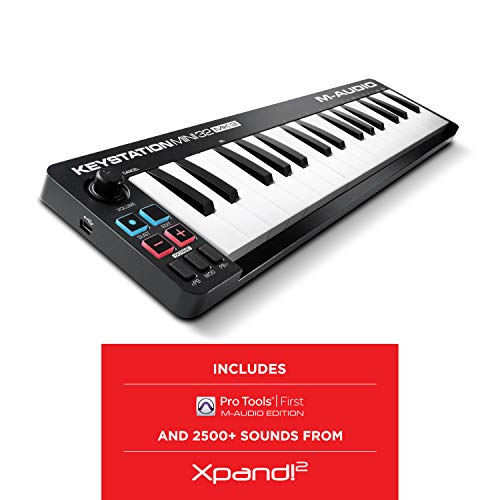 M Audio Keystation Mini 32 MK3 | Ultra Portable Mini USB MIDI Keyboard