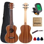 Kulana Deluxe Tenor Ukulele, Mahogany Wood with Binding