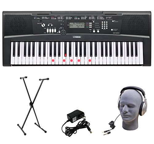 Yamaha 61-Lighted Key Portable Keyboard Package