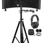 Rockville Recording Studio Microphone+Isolation Shield+Headphones