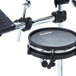 Alesis Command Mesh Kit | Electronic Drum Kit with Mesh Heads, Chrome Rack & Command Drum Module with 70 Kits, 600+ sounds 60 Play Along Tracks, Custom Sample Loading and USB/MIDI Connectivity 1