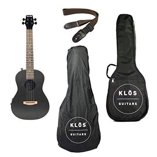 KLOS Guitars Carbon Fiber Deluxe Acoustic Electric Ukulele Package