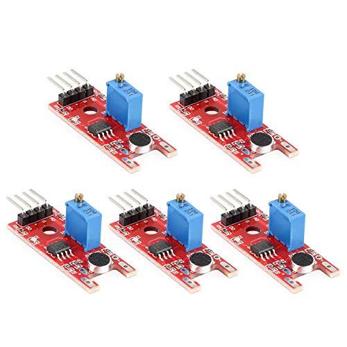 Widewing 5pcs Sound Sensor Module KY-038 Microphone Voice Sound Sensor