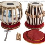 MAHARAJA Student Tabla Drum Set, Basic Tabla Set, Steel Bayan, Dayan with Book