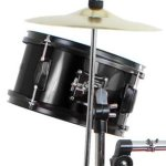 Drum Set Black Complete Junior Kid's Children's Size with Cymbal Stool Sticks – Sticks – Everything You Need to Start Playing 1