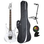 Ibanez Steve Vai JEM JR White Full Size Electric Guitar w/ Gig Bag, Tuner, and Stand 2