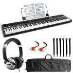Alesis Concert 88-Key Digital Piano with Full-Size Semi Weighted Keys With Touch Response + DJ Headphones + Audio Cable + Keyboard Bag
