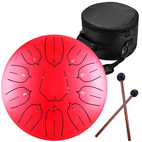 Steel Tongue Drum - 11 Notes 12 inches - Percussion Instrument