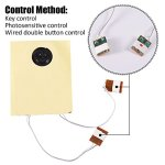 fosa 30s Music Sound Voice Recording Module Device Chip 0.5W with Button Battery for DIY Audio Cards(Photosensitive Control) 3