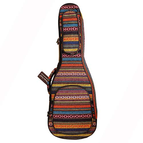 "MUSIC FIRST Original Design 0.6"" (15mm) Thick Padded Country Style Guitalele, Mini Guitar, Travel Guitar Case, Guitar Bag, Guitar Soft Case. NEW ARRIVAL! (30~31 inch)"