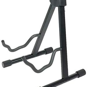 Gemini GTST-01 A-Frame Electric and Acoustic Portable Universal Adjustable Professional Guitar Stand, Black