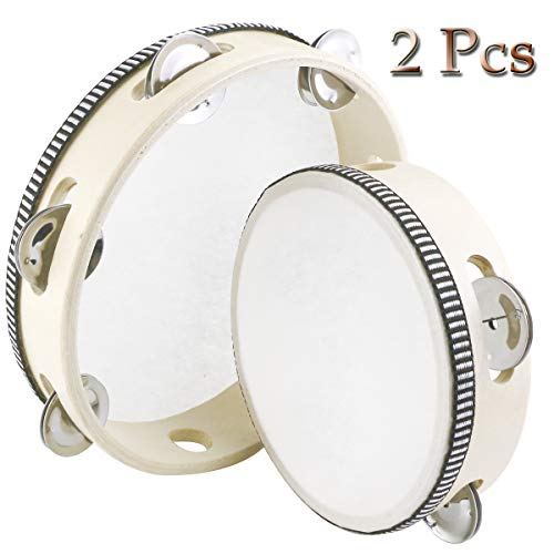 Headless Tambourine Drum with Metal Jingle Bells
