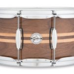 Gretsch Drums Full Range Series Gloss Walnut Snare W/Maple Inlay
