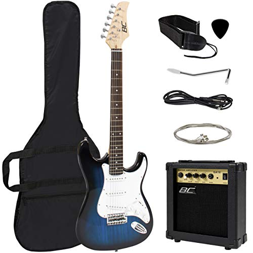 Full Size Beginner Electric Guitar Starter Kit w/Case
