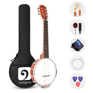 26 Inch Sapele Travel Banjo Guitar for Beginners with Bag