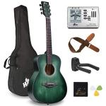 Acoustic Guitar Travel Bundle with Bag, Metronome Tuner