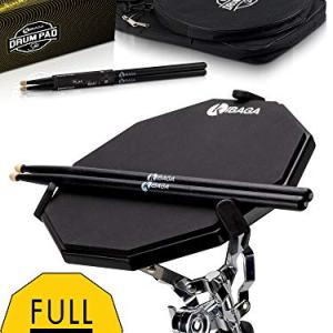 Responsive Drum Practice Pad Comes with Premium Drum Sticks