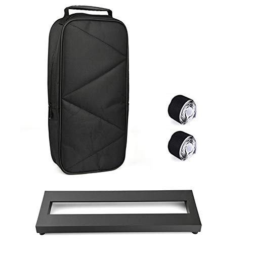 PedalBoard for Guitar Bass EffectsPedal Small Mini Pedalboard with Carry Bag, 2PCS Pedal Board Tape 15 x 5 inch