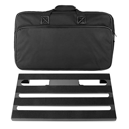"""Soyan Large Metal Guitar Pedal Board 22"""" x 12.5"""" with Carrying Bag, Self Adhesive Hook & Loop Tapes Included"""