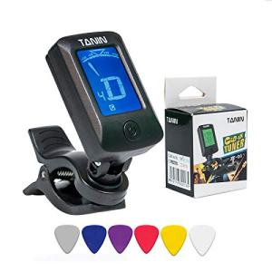 Guitar Tuner -Suitable for guitar, bass, violin, ukulele, digital electronic tuner acoustic and LCD display-high precision calibration tuner.