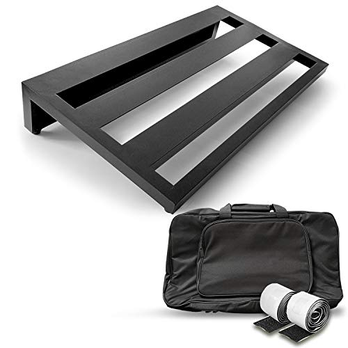 """AxcessAbles Guitar Pedal Board 20"""" x 12"""" Lightweight Aluminum Alloy Pedalboard with Carry Bag"""