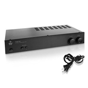 Pyle Digital Stereo Power Amplifier- Dual Channel Amp Design, Built-in Circuitry Protection, Stereo/Bridged Mode Selector, Auto System Activation & Compatible for External Devices - SereneLife PAMP1000, Black
