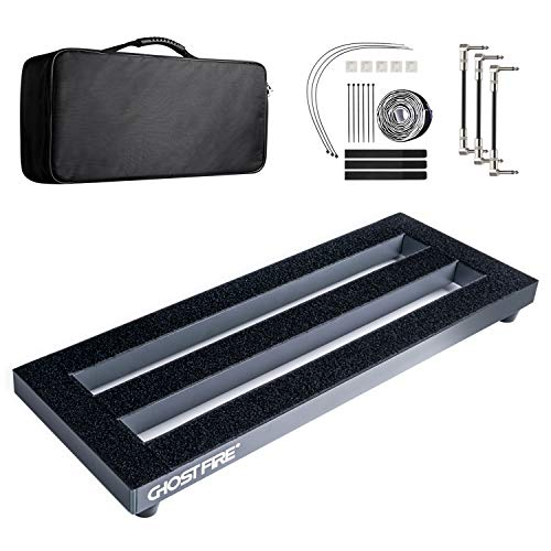 Pedal Board, Small Lightweight Portable Aluminum Alloy Mini Guitar Pedalboard with Carrying Case and Guitar Pedal Cable, 19.53 x 7.1 x 1.57 inch, by Vangoa