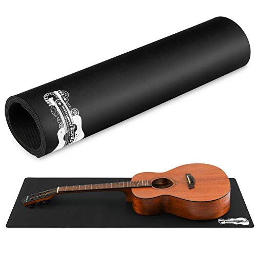 "Donner Guitar Work Mat, Double Layer Non Slip Guitar Bench Mat for Cleaning and Repairing, 17.7"" × 41.3"" Black"