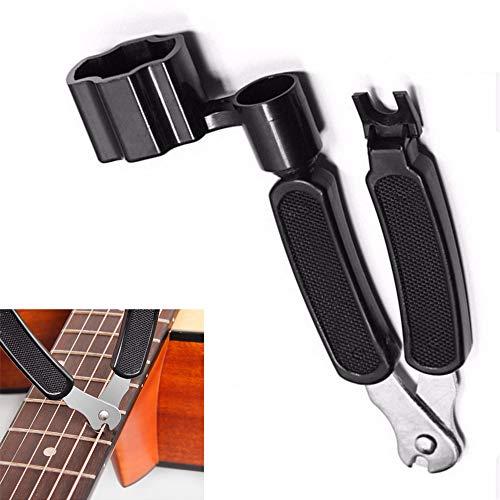 Guitar String Winder Cutter Guitar string Peg Winder Professional Guitar Bridge Pin Puller Fits Acoustic Guitar, Electric Guitar, Bass, Banjos, Mandolins, and More