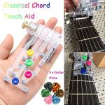 Guitar Beginner One-Key Chord Assisted Learning Tools with 5 0.46mm Pick, Guitar Learning System, Classical Chord Guitar Practice Aid Tool for Adults & children Trainer Beginner