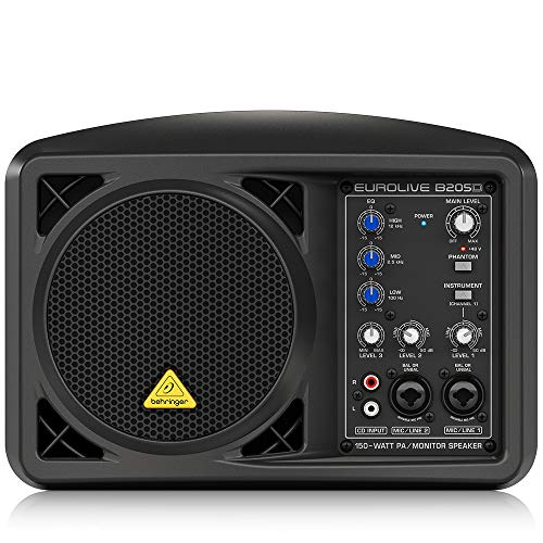 Behringer Eurolive B205D Ultra-Compact 150-Watt PA/Monitor Speaker System,Black
