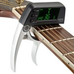 Guitar Tuner Capo, 2 in 1 Electric Guitar Capo Tuner with LCD Screen, Professional Capo Tuner Suitable for Acoustic or Folk Guitar, Banjo, Ukulele, Classical Guitar
