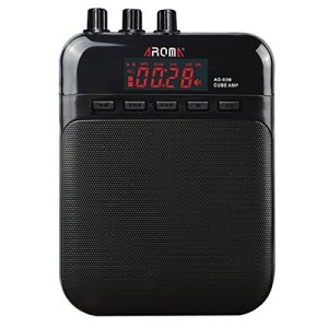 AROMA Mini Portable 5W Guitar Amp/Amplifier Recorder/Speaker with USB Cable to Recharge
