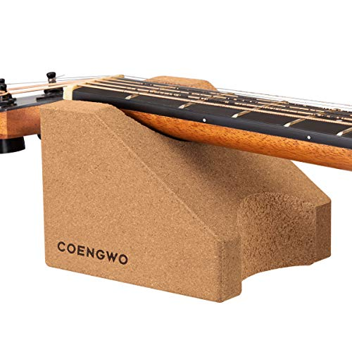 COENGWO Guitar Neck Rest, Guitar Stand Cork Guitar Neck Cradle String Instrument Neck Support Luthier Tools Guitar Cleaning Kits for Guitars, Ukuleles, Violins, Banjos, Mandolins, 1 Pack