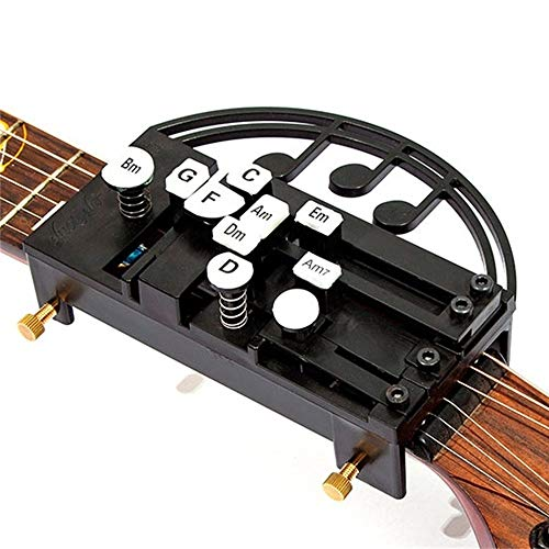 Guitar Tool One- Key Chord Assisted for Guitar, Guitar Attachment for Chord Fingering, Practice Aid Tool for Guitar Beginner Prevents Finger Pain