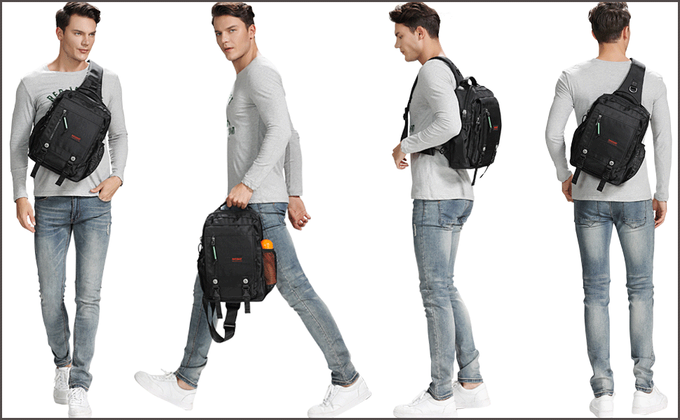 One Strap Backpack Chest Shoulder Backpack