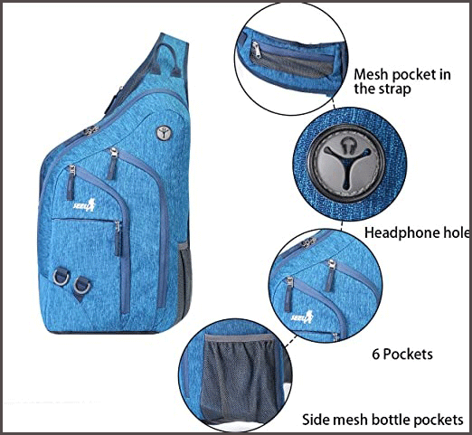 One Strap Backpack External Components