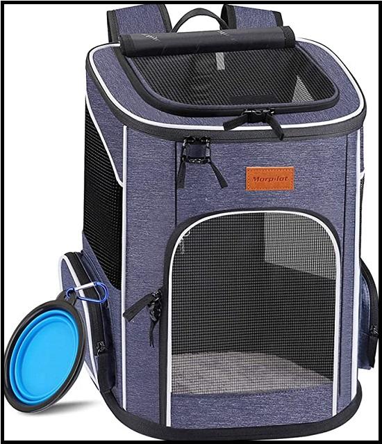 Morpilot Dog Backpack Carrier, Foldable Cat Backpack Carrier