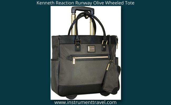 Kenneth Reaction Runway Olive Wheeled Tote