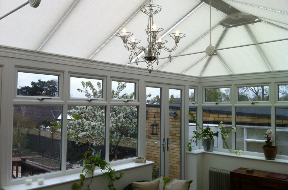 Neutral Conservatory Roof Blinds