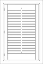 Single Panel Shutter
